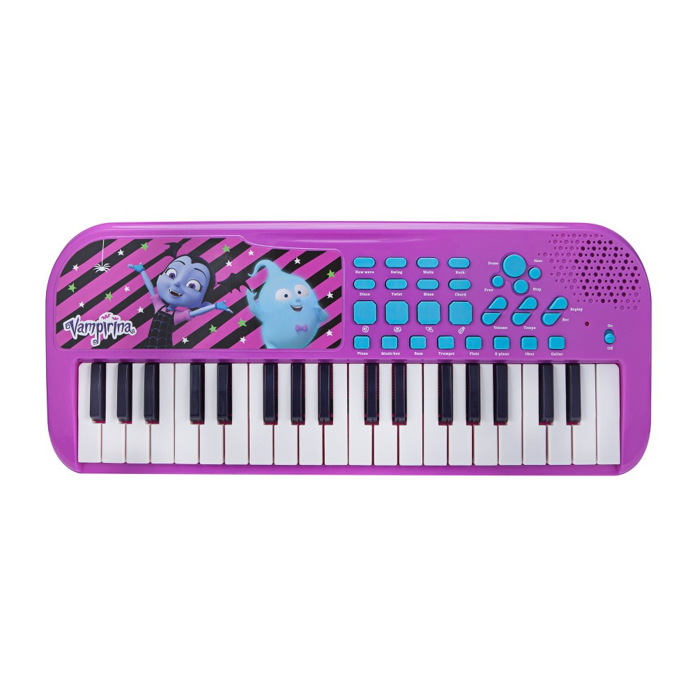 First Act Licensed Keyboard - Vamparina Loaded with songs, sounds and rhythms! Play with 37 keys, tons of key sounds, rhythms and demo songs. Plus, record and playback feature for writing songs! Gender: Unisex.