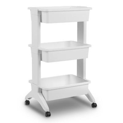 3-Tier Plastic Cart White - Room Essentials™