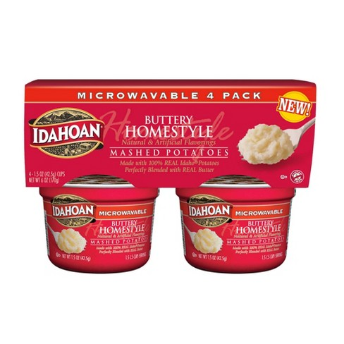 Idahoan Buttery Homestyle Microwavable Mashed Potato Cups - 6oz/4pk - image 1 of 3