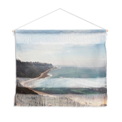 "22"" x 16"" Catherine McDonald California Coast Landscape Wall Hanging Blue - Denny Designs"