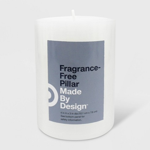 Unscented Pillar Candle White - Made By Design™ - image 1 of 1