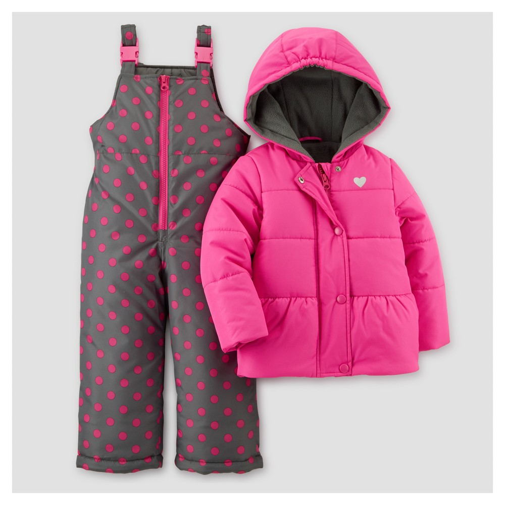 Toddler Girls' Outerwear Set - Just One You Made by Carter's Pink 12M