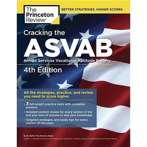 Cracking the Asvab, 4th Edition - (Professional Test Preparation)by The  Princeton Review (Paperback)