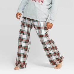 Men's Holiday Tartan Plaid Flannel Pajama Pants - Wondershop™ White