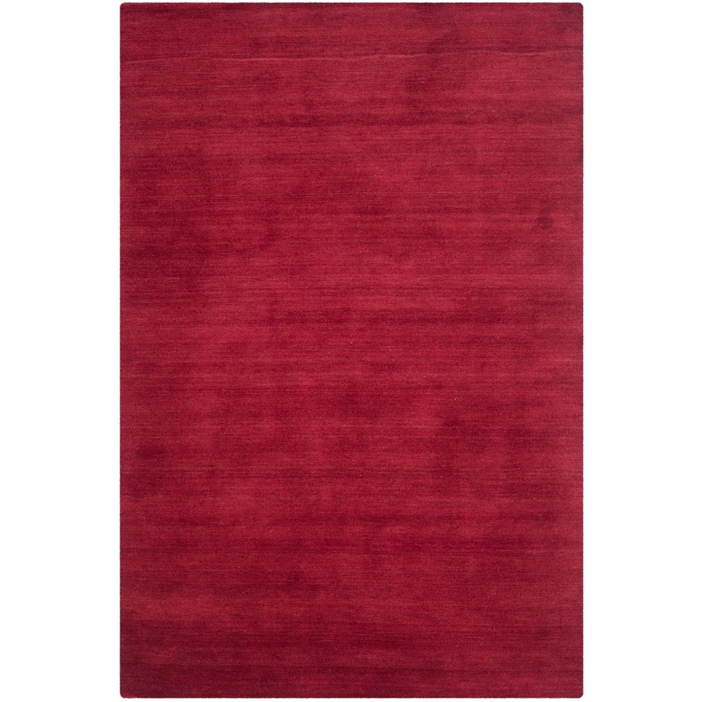 5'X8' Solid Tufted Area Rug Red - Safavieh
