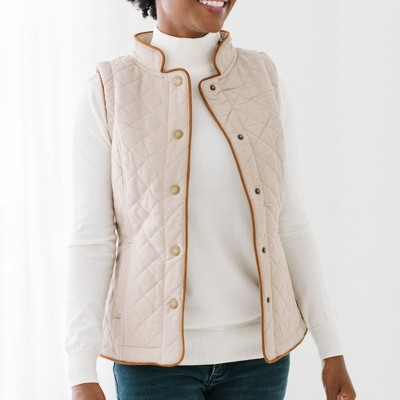 Hope & Henry Women's Quilted Riding Vest, Womens