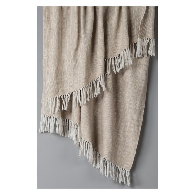 Throw Blankets 50 X60  Natural - Rizzy Home