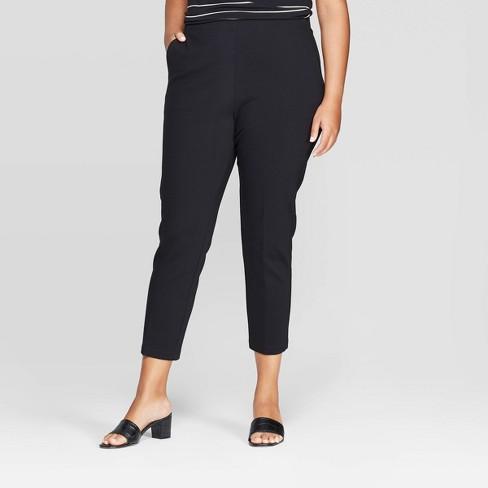 Women's Plus Size Pull on Ponte Trouser - Ava & Viv™ - image 1 of 2