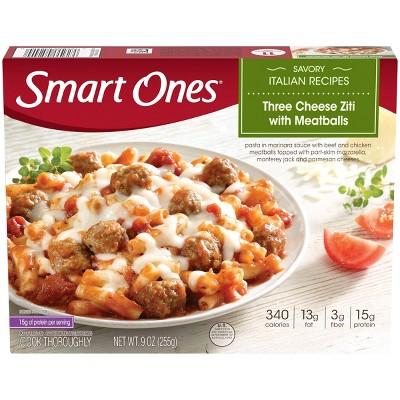 Smart Ones Frozen Three Cheese Ziti with Meatballs - 9oz