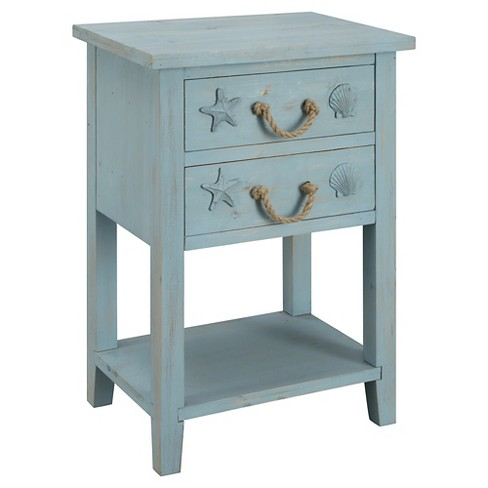 Nautical Two Drawer Chest - Blue - Christopher Knight Home - image 1 of 3