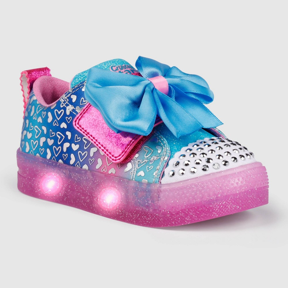 Toddler Girls 39 S Sport By Skechers Briella Light Up Sneakers Blue 12