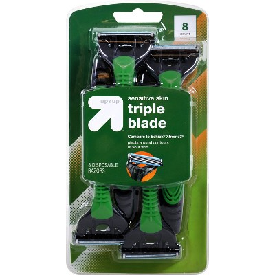 Men's Triple Blade Sensitive Skin Disposable Razor - 8ct - up & up™