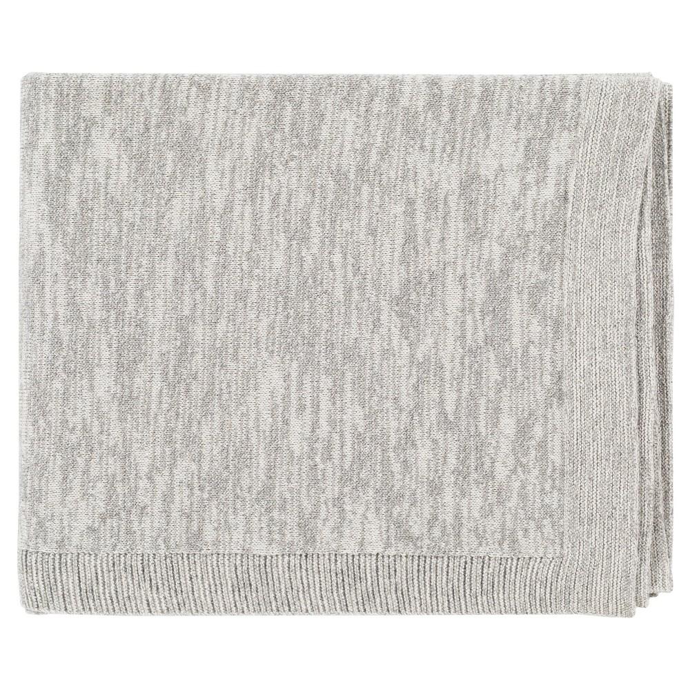 Grey Geranim Woven throw blankets (50