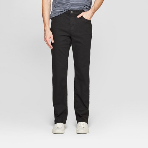 'Men's 29.5'' Straight Fit Jeans - Goodfellow & Co Black 36x30'
