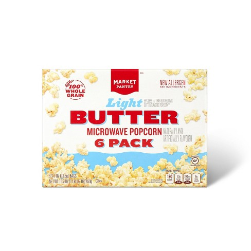 Light Butter Microwave Popcorn 6ct - Market Pantry™ - image 1 of 2