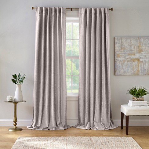 Carnaby Distressed Velvet Window Curtain Panel - Elrene Home Fashions - image 1 of 3