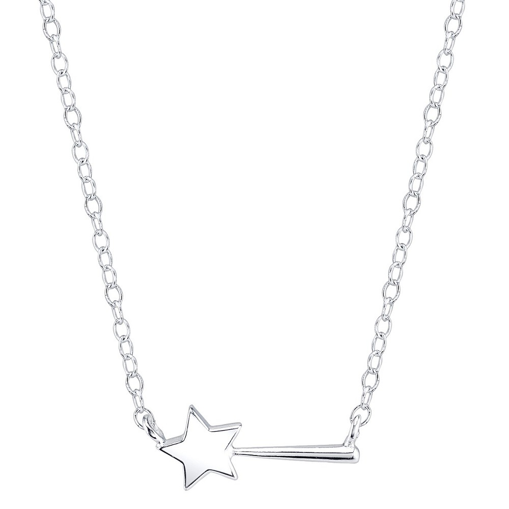 Disney Sterling Silver Magic Wand Station Necklace Silver (18.2'), Women's