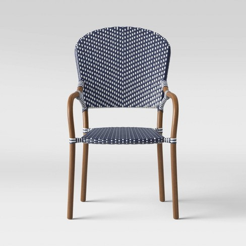 French Caf Wicker Stack Patio Chair