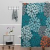 Khristian A Howell Greenwich Gardens Shower Curtain Blue - Deny Designs - image 2 of 2