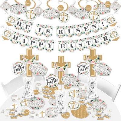 Big Dot of Happiness Religious Easter - Christian Holiday Party Supplies - Banner Decoration Kit - Fundle Bundle