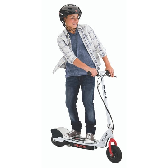 Razor E200 Electric Scooter WH/RD, White image number null