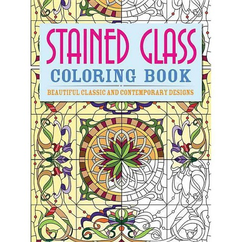 Stained Glass Coloring Book - (Chartwell Coloring Books) by Patience Coster  (Paperback)