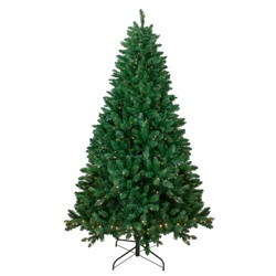 Northlight 6.5' Pre-Lit Twin Lakes Fir Artificial Christmas Tree - Clear Lights