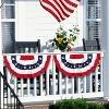 1.5' x 3' 4th of July Pleated Fan - image 2 of 2
