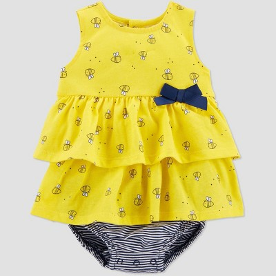 Baby Girls' Bumble Bee Sunsuit Romper - Just One You® made by carter's Yellow 6M
