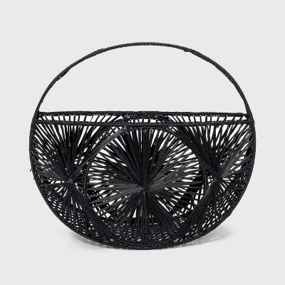 Woven Tote Handbag - A New Day™ Black
