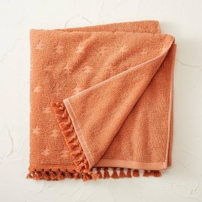Jacquard Bath Towel with Fringe Rose - Opalhouse™ designed with Jungalow™