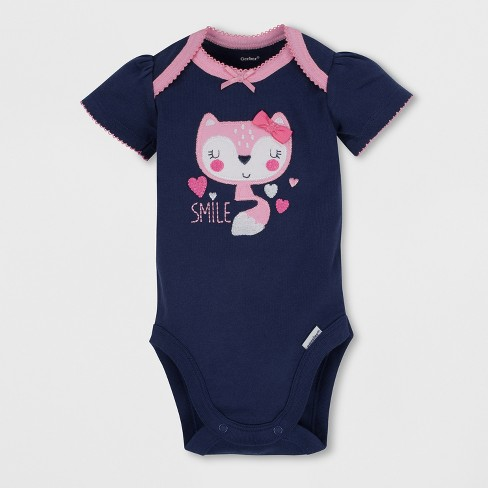 5940a547d Gerber Baby Girls' 4pc Short Sleeve Bodysuit, Long Sleeve Sleeper Pants And  Cap Set - Blue/Pink : Target