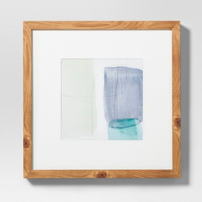 Framed Abstract Blue Wall Print 18 X 18 - Project 62™