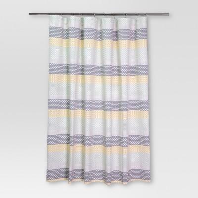 Pattern Stripe Shower Curtain Blue/Yellow - Threshold™