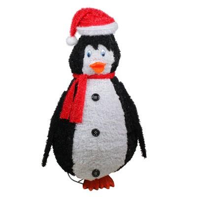 "Sterling 48"" Black and White Sparkling Penguin Christmas Decor"