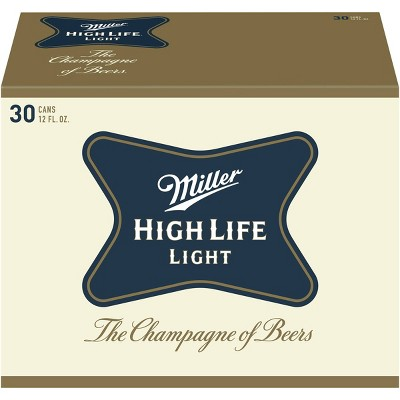 Miller High Life Light Beer - 30pk/12 fl oz Cans