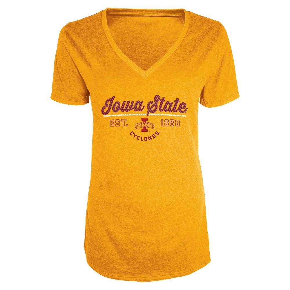 NCAA Women's Bright Spot V-Neck Bi-Blend T-Shirt Iowa State Cyclones - S, Multicolored