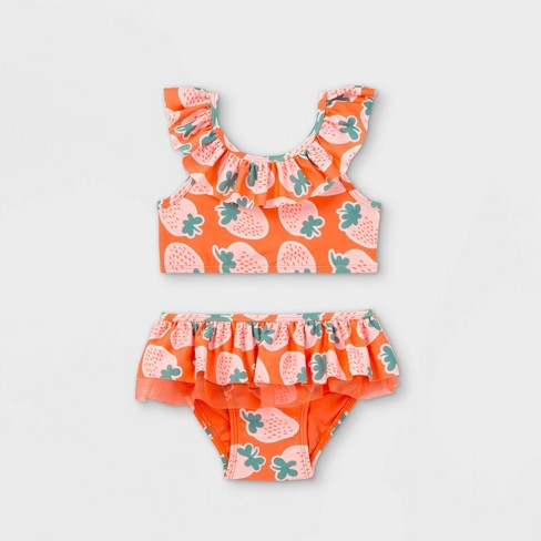 Toddler Girls' 2pc Strawberry Print Bikini Set - Cat & Jack™ Pink - image 1 of 2