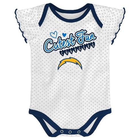 dc6c4af3262 Los Angeles Chargers Girls' Newest Fan 3pk Bodysuit Set 12 M : Target