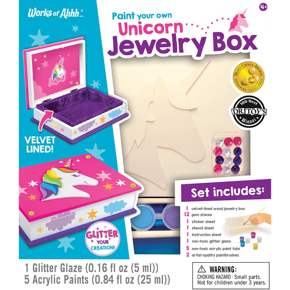 Image of MasterPieces Paint Your Own Unicorn Jewelry Box