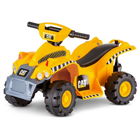 Kid Trax 6V CAT Toddler Quad Powered Ride-On - Yellow - image 1 of 4