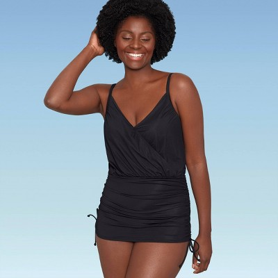 Women's Slimming Control V-Neck Swim Dress - Dreamsuit by Miracle Brands