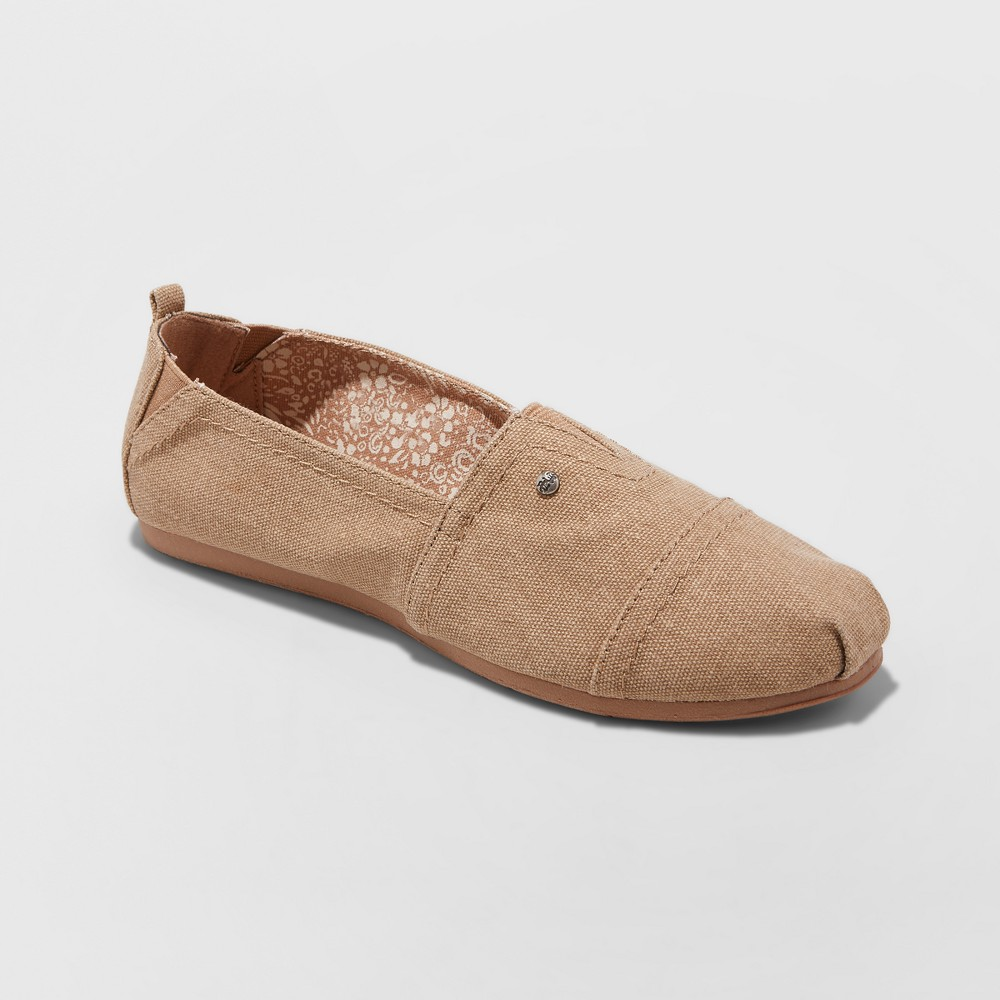 Women's Mad Love Lydia Slip on Canvas Sneakers - Tan 8