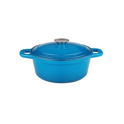 BergHOFF Neo 3 Qt Cast Iron Oval Covered Dutch Oven, Blue