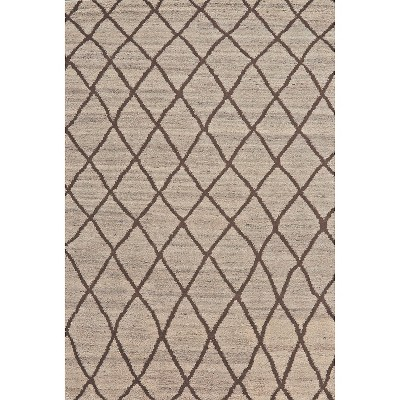 2'x3' Geometric Design Knotted Accent Rugs Natural/Linen - Weave & Wander