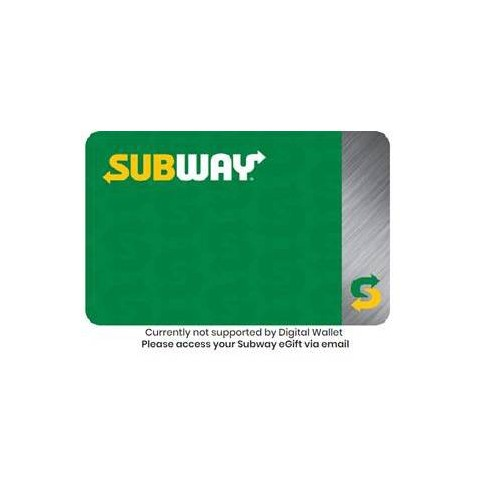 Subway Gift Card (Email Delivery) - image 1 of 1