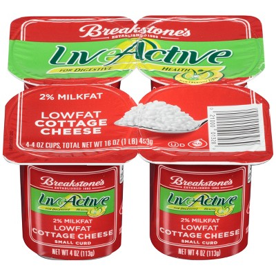 breakstone live active low fat cottage cheese 4oz 4ct target rh target com