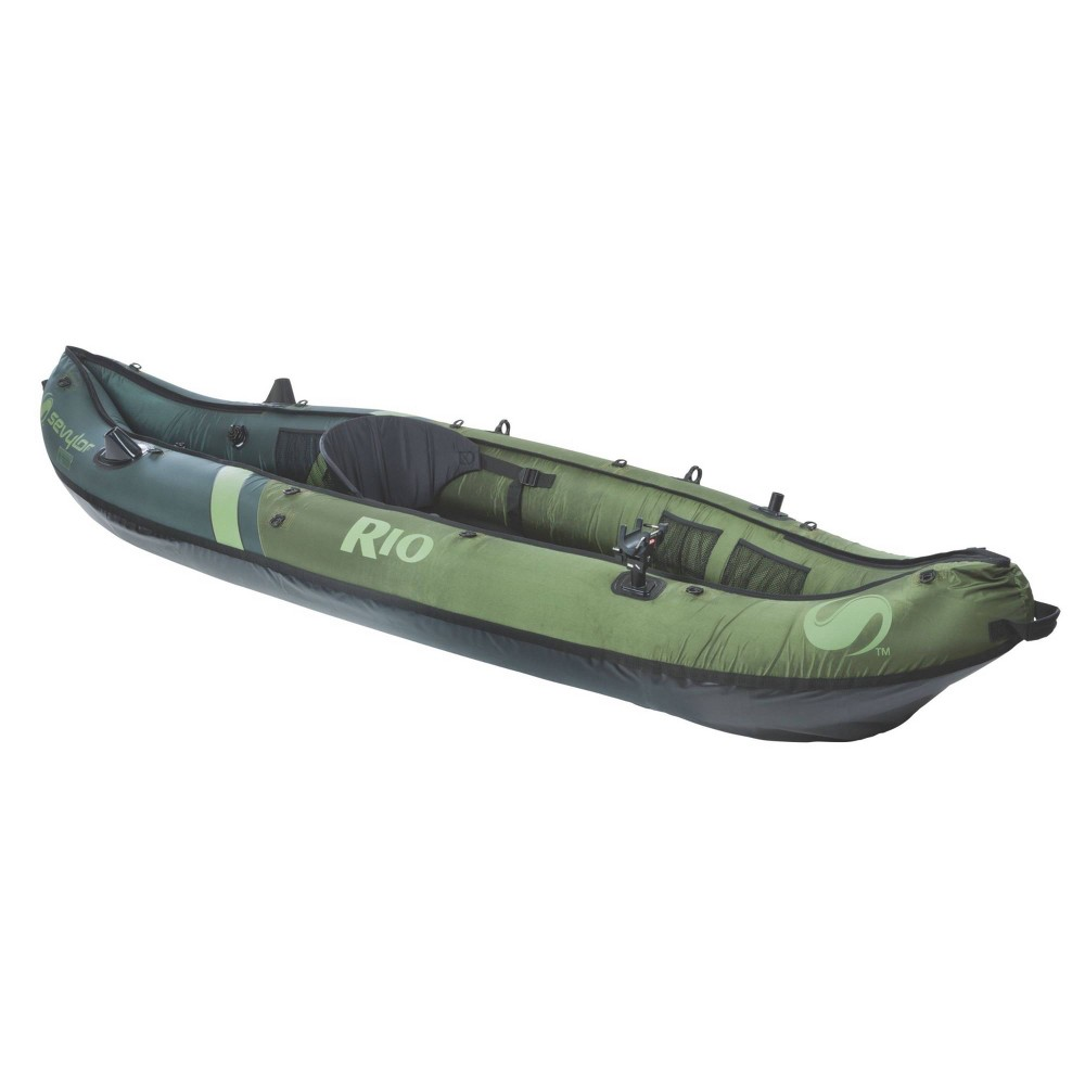 Image of Sevylor Rio Fish/Hunt 1-Person Inflatable Kayak - Green