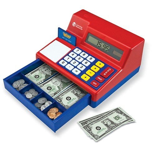 Learning resources pretend and play calculator cash register.