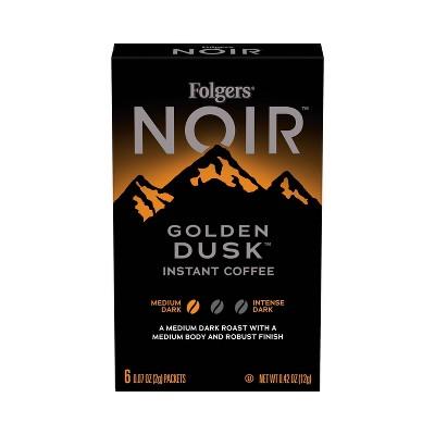 Folgers Noir Dark Roast Instant Coffee Sticks - 6ct